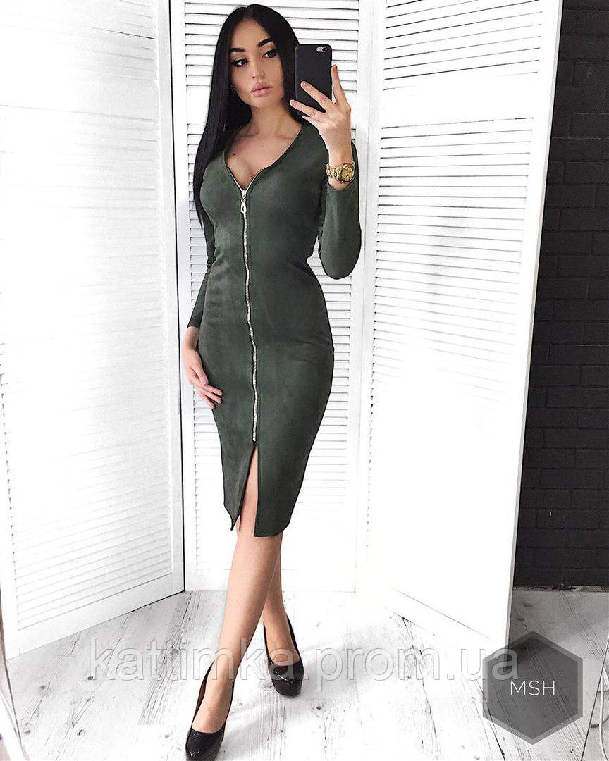 cf22c988b9d Женское платье с замком по всей длине - Интернет-магазин