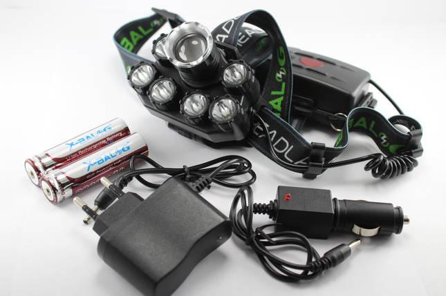 Мощный налобный LED фонарь Bailong T76-T6 XPE, фото 2