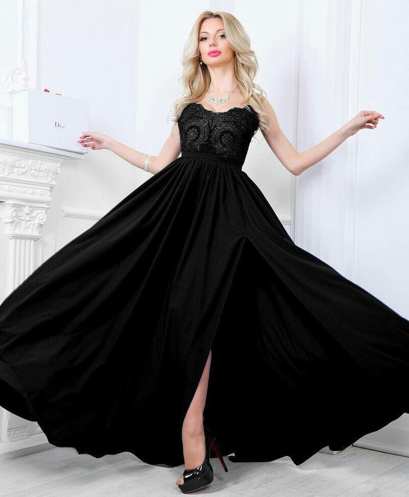 Шикарное вечернее платье. Чёрное, 5 цветов. Р-ры  S, M, L.  продажа ... ac66ce10edb
