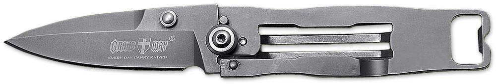 Нож складной E-15 (8Cr13MoV) с убирающимся клинком в рукоятку MHR /05-5