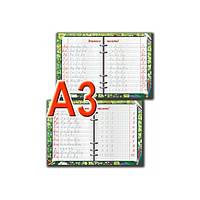Доска-тренажер пропись А3 Учимся писать украинский алфавит