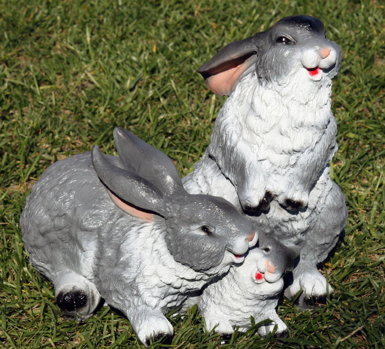 Семья зайцев H-27см