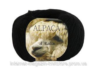 Пряжа Сеам Alpaca d'Italia черный