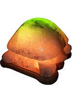 Соляная лампа Черепаха 4-6 кг.Белая,Цветная лампочка