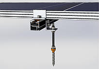 Система креплений солнечных батарей к металлочерепице, профнастилу и шиферу