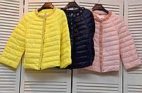 Демисезонные курточки с жемчугом на молнии Италия