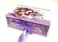 Подарочный набор праздничной коробке, дизайнерский картон с завязкой