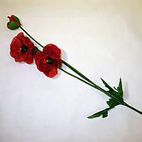 Искусственные цветы Ветка мак (71 см)