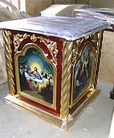 Деревянное одеяние на престол 80 на 80см для храма