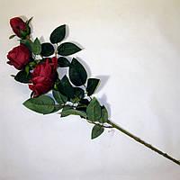 Искусственные цветы Ветка Розы (90 см) (5 шт)