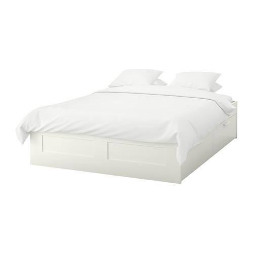 Каркас кровати с ящиками IKEA BRIMNES белый 399.029.37