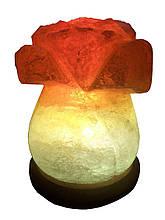 Соляний світильник Троянда 3-4 кг. Біла,Кольорова лампочка