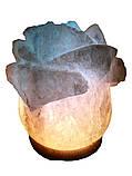 Соляной светильник Роза 3-4 кг.Белая,Цветная лампочка, фото 2