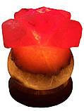 Соляной светильник Роза 3-4 кг.Белая,Цветная лампочка, фото 4