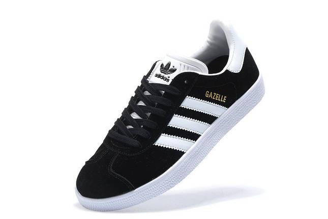 Мужские кроссовки Adidas Superstar Gazelle Black/White Черно-Белые, фото 2