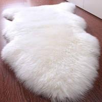Шкура овечья натуральная белая, отбеленная