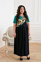 Летнее женское длинное платье большого размера 54, 56, 58, 60 размер.Платья батал.Жіноче нарядне плаття