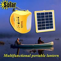 Многофункциональный фонарик + солнечная панель, фонарик \ радио\ зарядное для мобильных на солнечной батарее
