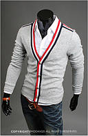 Серый мужской кардиган 46р.