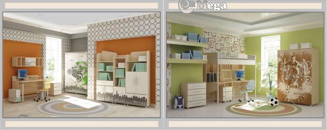 Детская комната Mega-City (варианты интерьера)