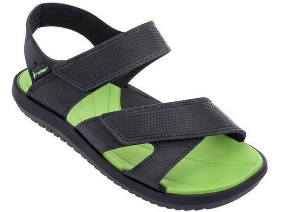Оригинал Детские Сандалии Для Мальчика 82225-22378 Rider Terrain Sandal Kids Black/Green Черно-Зеленые, фото 2