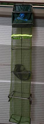 Садок карповый прорезиненный прямоугольный 2.5 метра  32см\43см, фото 2