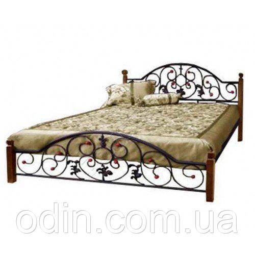 Ліжко Жозефіна на дерев'яних ніжках (Метал Дизайн)
