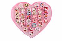 Детские кольца Aristotelia (разные цвета) Hello Kitty, яркая бижутерия для детей, колечки для девочек, детская бижутерия, украшения для девочек