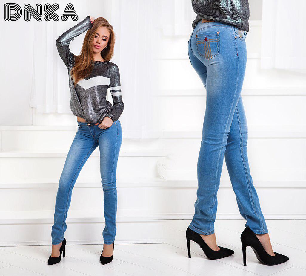 Легкий джинс - на низкой посадке  (40-48р.)
