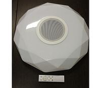Led люстра на пульте с колонкой 30W 515мм*515мм 3000k/4500k/6500k/RGB/ Bluetooth Musik Player, фото 1