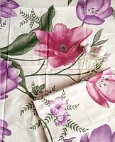 Цветочный двуспальный комплект постельного белья из 100% хлопка, бязь Голд.
