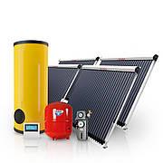 Гелиотермальная система ГВС на вакуумных коллекторах 500 л горячей воды в сутки на 10 человек