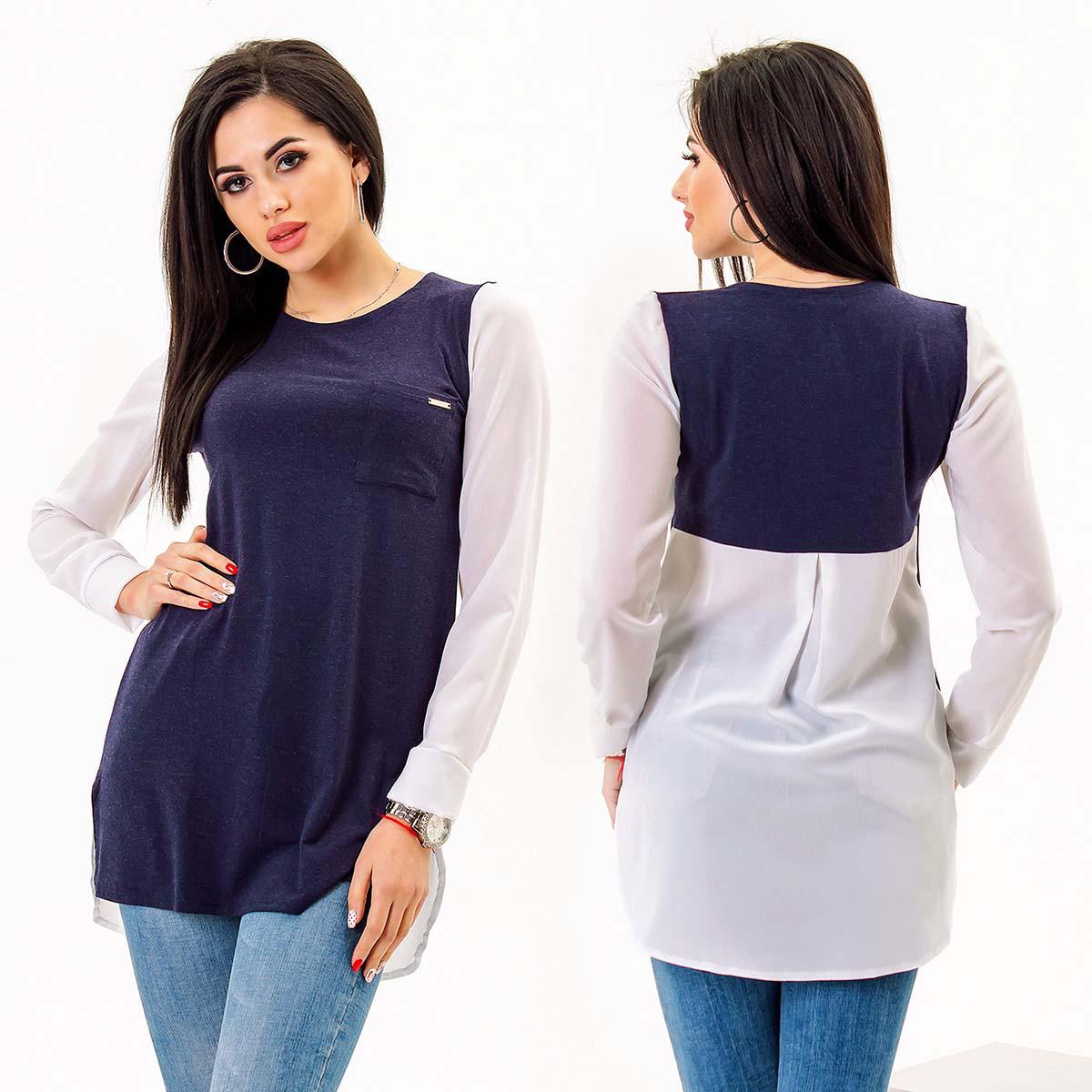 a4403ed7e7c Женская стильная блуза-туника до больших размеров 1559