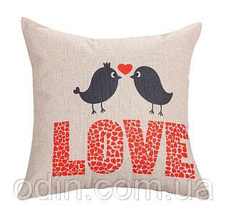 Декоративная подушка Love Birds (Лав Бердс)