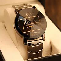 Часы женские наручные кварцевые с металлическим браслетом