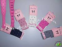 Нарядные колготки для девочек оптом, Турция ТМ PIER LONE р.11-12 (146-152 см) спереди - горох, сзади-бантики