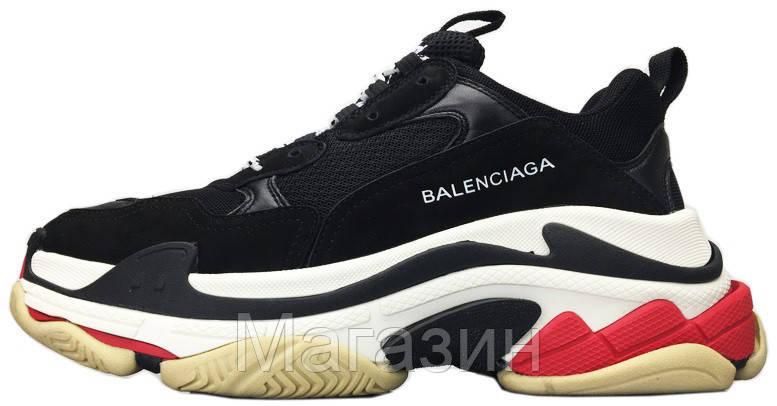 Женские кроссовки Balenciaga Triple S (в стиле Баленсиага) черные