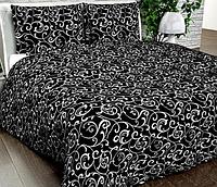 Комплект черного постельного белья из бязи Gold 100% хлопок
