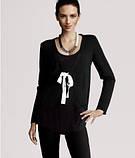 Кардиган H&M чорного кольору з стрічками зав'язками, фото 2