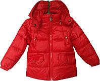 """Куртка детская демисезонная """"Home"""" #9 для девочек. 2-3-4-5-6 лет. Красная. Оптом, фото 1"""