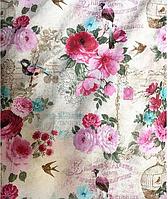 Цветочный комплект постельного белья из 100% хлопка, бязь Голд.