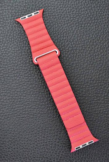 Ремешок Apple Watch Leather Loop 38 mm Красный кожаный