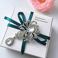 """Шикарная брошка """"Ясмин"""", в красивой упаковке."""