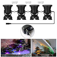 Светильник подводный для басcейна комплект  4шт x 2W 12V LED Белый  размер 70мм*95мм IP68, фото 9