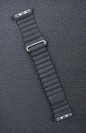 Ремешок Apple Watch Leather Loop 42\38 mm Чёрный кожаный