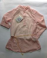 Шифоновая блузка для девочек от 6 до 12 лет.
