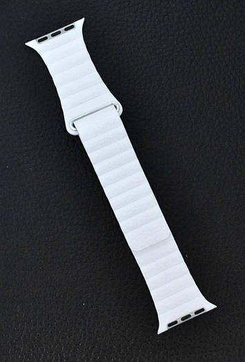 Ремешок Apple Watch Leather Loop 42\38 mm Белый