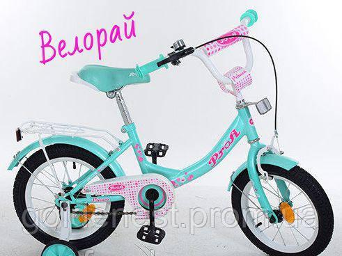 """Детский двухколесный велосипед 14 дюймов для девочки Profi 14""""  Princess14Д. Y1412"""