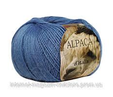 Пряжа Сеам Alpaca d'Italia голубой