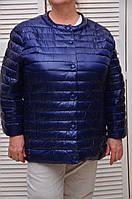 Синяя Демисезонная курточка на кнопках с карманами Италия